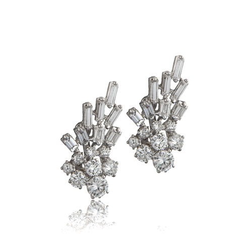 SM275B-Vintage-1940s-Platinum-Earrings