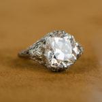 4 Carat Vintage Engagement Ring