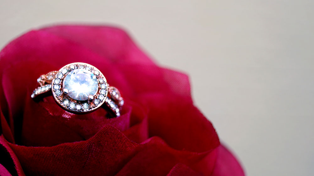 Diamond Engagement Ring in Rose